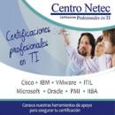 Carreras de certificación con hasta 100% de descuento en inscripción, además inscríbete en los seminarios virtuales sin costo del mes